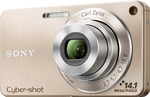 Sony DSCW350N Cyber-shot Digital Camera - Gold (14.1 MP, 4x Optical Zoom) 2.7 inch LCD
