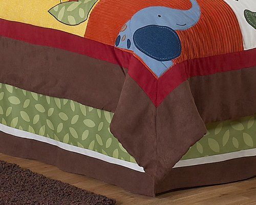 cheap queen kids childrens bed skirt for jungle time bedding