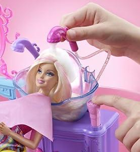 Mattel V4411 Barbie Hairtastic Color And Wash Salon Playset
