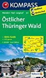 Östlicher Thüringer Wald: Wanderkarte mit Aktiv Guide, Radwegen und Loipen. 1:50000