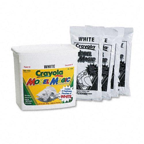 Crayola® Model Magic Self-Hardening Modeling Compound, Four 8oz Pouches per Bucket, White