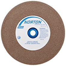 Norton Gemini Bench and Pedestal Grinding Wheel, Type 01, Round Hole, Aluminum Oxide