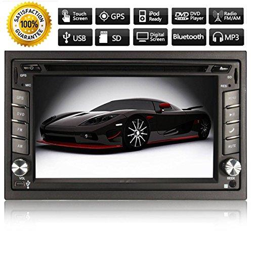 AUDEW 6,2 pollici 2 DIN Auto Stereo Bluetooth Autoradio DVD Lettore HD TV MP3 Navigazione GPS + Camera