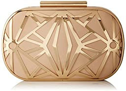 Aldo Rinon Clutch, Bone, One Size