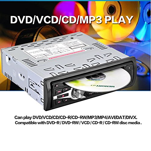 KKmoon Lecteur Universel Voiture CD DVD MP3 Player Radio Stéréo FM Aux Entrée Port SD/USB