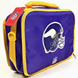 NFL Football Licensed Minnesota Vikings Helmet Purple Zippered Insulated Lunch BOX - Lunchbox at Amazon.com