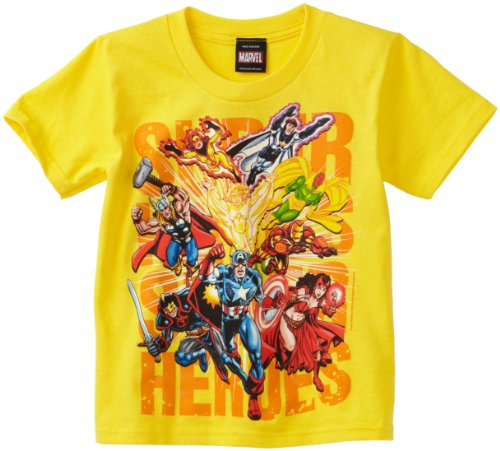 Marvel Little Boys' Power Type T-Shirt