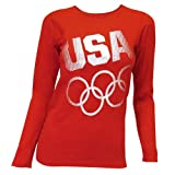 51kDQWAxKIL. SL160  2012 Olympics USA Rings Long Sleeve Womens Shirt, XL