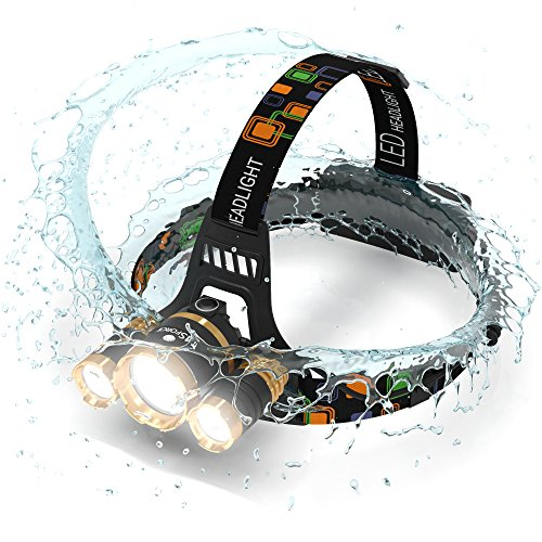 msforce headlamp 6000 lumen flashlight