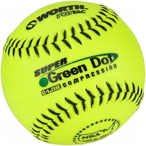 Worth YS11NS4 NSA Stamped 11-Inch Protac Slowpitch Softball (Pack of 12) (Womens Slow Pitch Softballs compare prices)