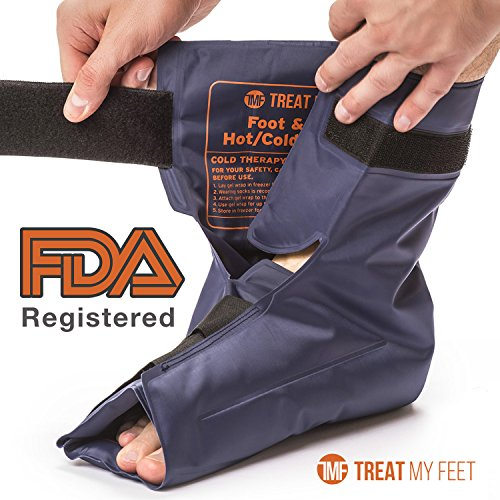 Foot & Ankle Pain Relief Hot/Cold Gel Wrap - Effectively relieve foot and ankle aches & PAINS using compression gel wrap - Heated or Cooled, Targets All Areas - FDA Registered & Doctor Recommended (Cold Compress For Feet compare prices)