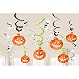 Family Friendly Halloween Party Foil Swirl Decorations