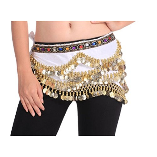 328 Gold Coins Belly Dance with Jewels