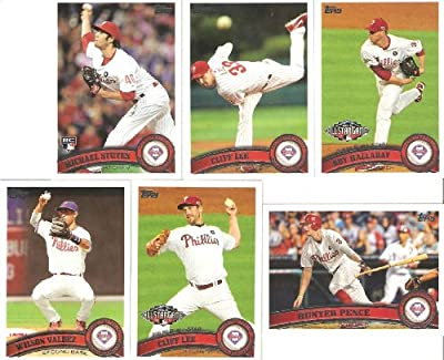 MEGA SET - 29 Cards of the 2011 Philadelphia Phillies - Complete Topps Series 1 & 2 & Update (Series 3) / Including Cliff Lee, Roy Halladay, Ryan Howard, Stutes, Hunter Pence & More!