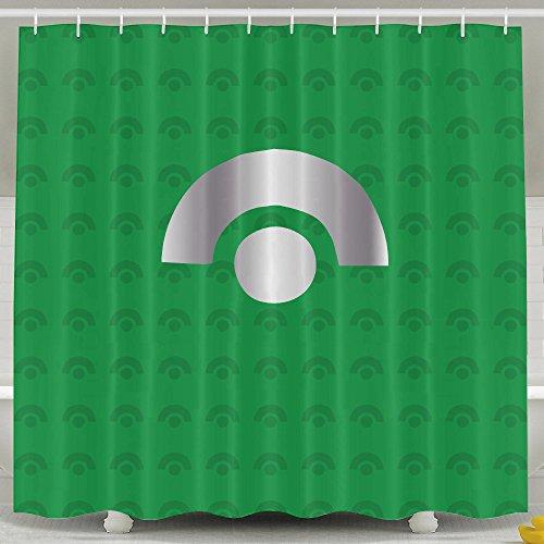 ASJDO Shower Curtains Ash Ketchum Platinum Logo (Portal Bath Tubs compare prices)