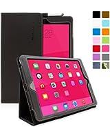 Snugg™ - Étui Pour iPad Air (iPad 5) - Smart Case Avec Support Pied Et Une Garantie à Vie (En Simili Cuir Noir) Pour Apple iPad Air