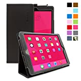 Snugg iPad Air (iPad 5) Case - Smart Cover with Flip Stand & Lifetime Guarantee (Black Leather) for Apple iPad Air (2013)