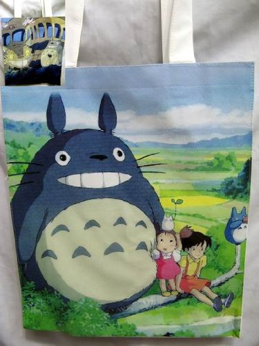 Totoro: Cat Bus and Totoro Tote Bag 14 x 12