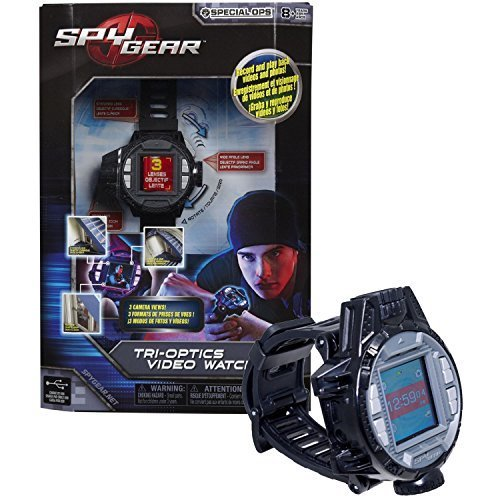 Spin Master Spy Gear Special Ops Series Electronic Device : TRI-OPTICS VIDEO WATCH with 3 Camera Views (Standard, Wide and Zoom) Plus Motion Activated Feature by Spy Gear (Spy Gear Tri Optics Video Watch compare prices)
