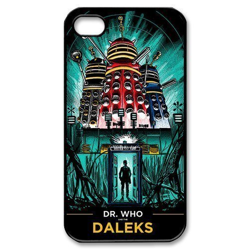 Pink Ladoo® iphone 4 4s Case Phone Cover Hard Plastic Doctor Who Daleks Limited