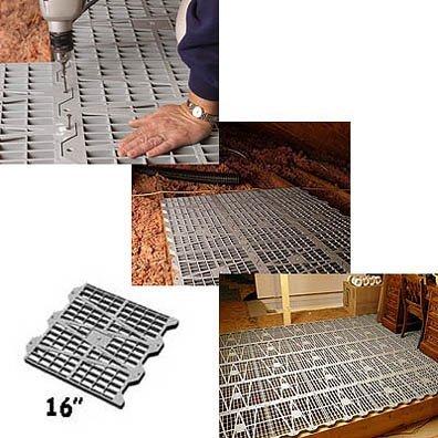 Attic Dek - Flooring System-Pack of 6 panels (Gray) (16 square)