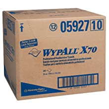Kimberly-Clark Wypall X70 Hydroknit Foodservice Towel, 23-1/2&#034; Length x 12-1/2&#034; Width, Blue (Case of 300)