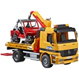Bruder 02662 MB Actros Breakdown Truck with Cross Country Vehicleby Bruder