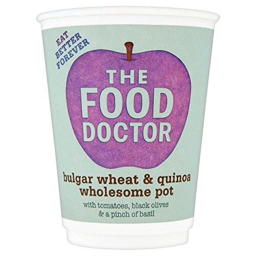 The Food Doctor Bulgar Wheat & Quinoa Wholesome, Tomatoes, olives and basil Pot (70g) - Pack of 6 (Tomato Basil Rice Cakes compare prices)