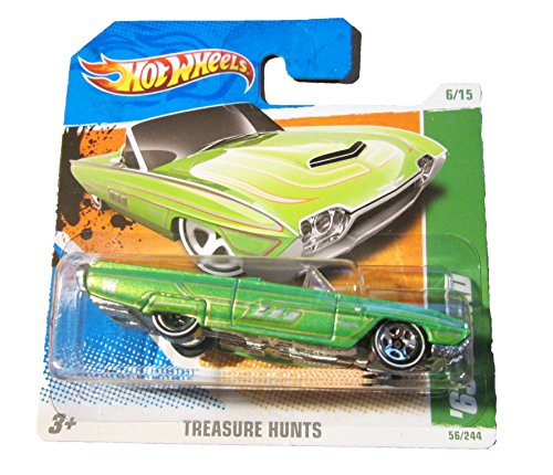 2011 Hot Wheels Short Card Regular Treasure Hunt '63 T-Bird Green #56/244