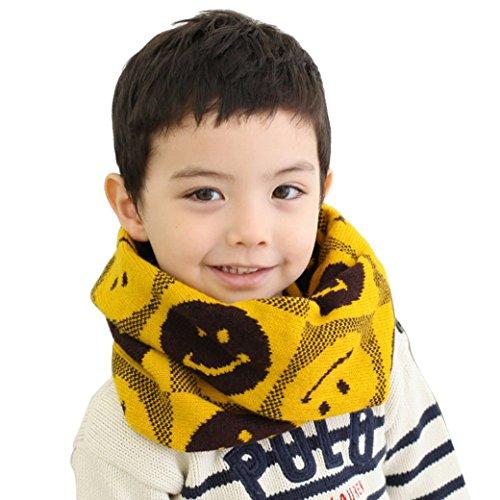 Boys Kids Girls Baby Scarf Ring Warm Neck Infinity Scarve Infant Scarf - Yellow