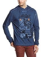 SIDECAR Camiseta Manga Larga Aron (Azul)