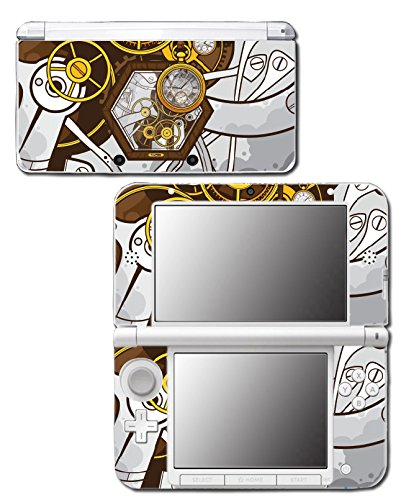 Retro Steampunk Time Machine Pocket Watch Art Video Game Vinyl Decal Skin Sticker Cover for Original Nintendo 3DS XL System (Steam Game System compare prices)