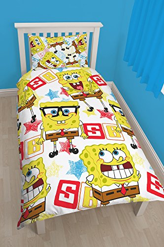 "Character World - Set con copripiumino per letto singolo 91 cm, motivo ""Spongebob Legend"", multicolore"