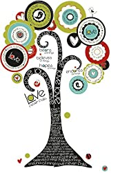 RoomMates RMK2153SLM Tree of Hope Peel and Stick Giant Wall Decal