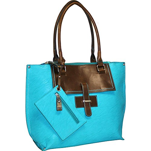 punto-uno-tailored-tote-turquoise