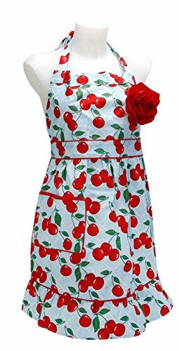 Jessie Steele Kitchen Cherry Courtney Apron (Jessie Steel Aprons compare prices)
