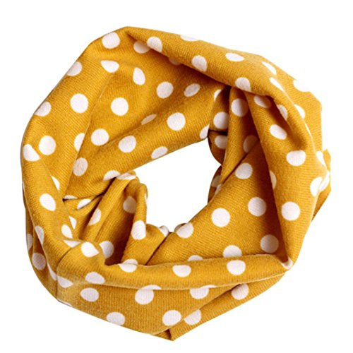 Fashion Multicolor Children Cotton Scarf Kids Winter Warm Neckerchief (Yellow)