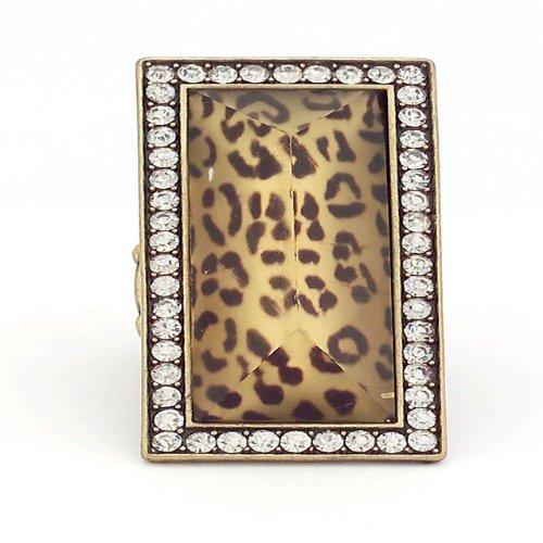 Gold Leopard Print Ring