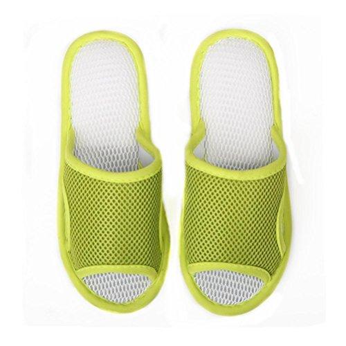 ZHLONG Maglia Pantofole donna, casual interni pavimenti antiscivolo pantofole , green , large