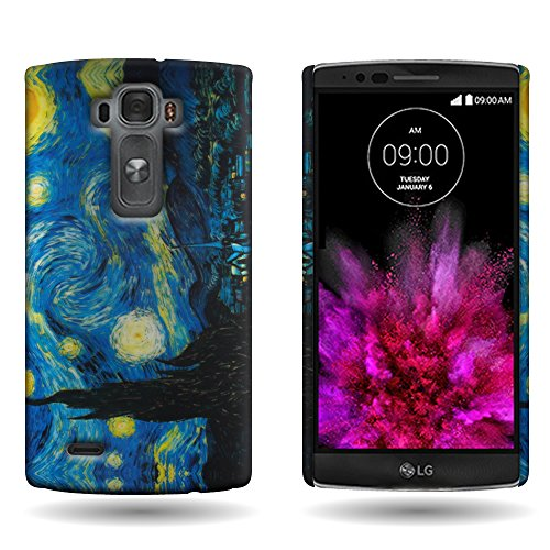 LG G Flex 2 Case, Back Cover [CoverON® Slender Fit Series] Slim Shell with Unique Printed Image [Hard Polycarbonate Plastic Shield] Phone Cover Case for LG G Flex 2 - Starry Night, Art Design