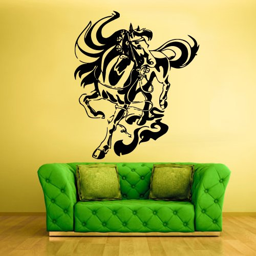Wall Vinyl Sticker Decals Decor Art Bedroom Kids Design Mural Running Horse (Z373) front-1014713