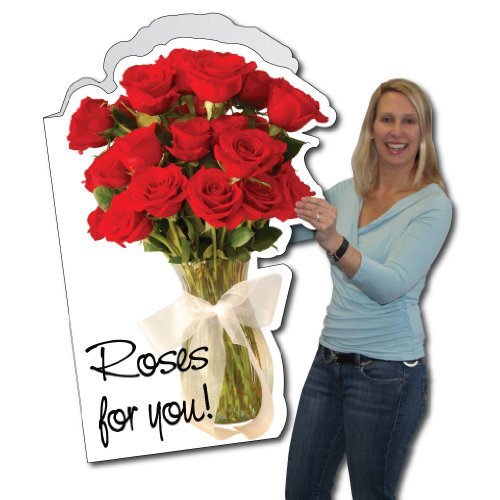 2'x3' Giant Roses for You Valentine's Day Card W/Envelope
