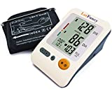 """LotFancy Blood Pressure Monitor - Automatic Digital BP Machine with Upper Arm Cuff & Irregular Heartbeat Detector - Accurate Portable for Home Use - 4 User Mode, FDA Approved (Medium Cuff 8.6-14"""")"""