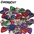 ChromaCast CC-CP-48PK Pearl Celluloid Guitar Picks, Assorted 48-Pack - Light, Medium and Heavy Gauge from ChromaCast