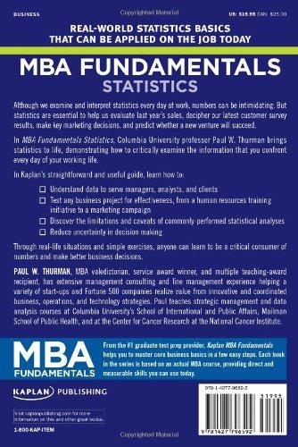 MBA Fundamentals Statistics (Kaplan MBA Fundamentals)