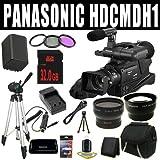 Panasonic HDC-MDH1 AVCHD Camcorder (PAL) + VBG260 Battery/Charger + Filter Kit + 32GB SDHC + Wide Angle/Telephoto Lenses HDMI DavisMAX Pro HUGE Kit Bundle