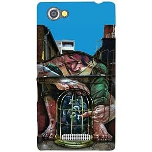 Printland Super Hero Phone Cover For Sony Xperia M