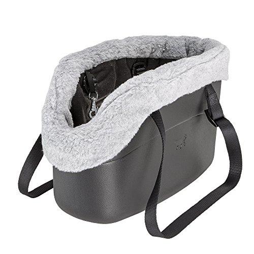 Ferplast-79515017-Hundetragetasche-With-Me-Winter-aus-innovativem-EVA-Gummi-Mit-Felleinsatz-215-x-435-x-27-cm-schwarz