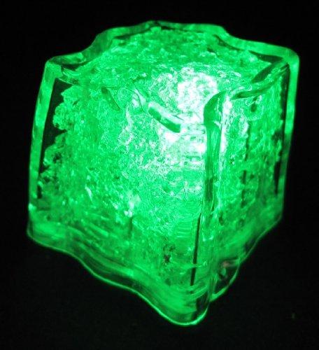 1 Green Litecubes Brand Plastic Led Ice Cube
