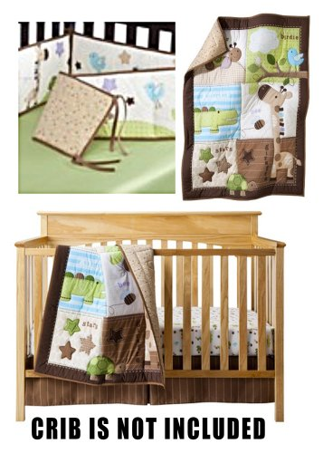 Circo Sweet Bugs And Friends Collection Kid'S Room Total Crib Set - Includes: 3 Pc Chirp And Chomp Neutral Nursery Set (Comforter, Sheet, Dust Ruffle), Neutral Crib Bumper front-880044